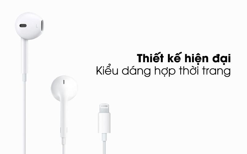 Tai nghe EarPods cổng Lightning Apple MMTN2 - Thiết kế hiện đại, hợp thời trang