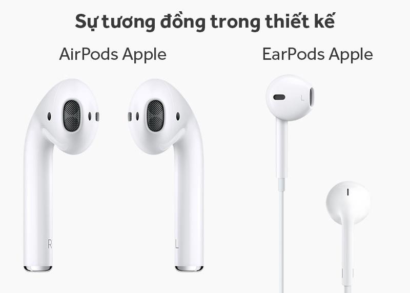Tai nghe Bluetooth AirPods Apple MMEF2 - Ngoại hình AirPods tương tự như EarPods