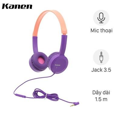 Tai nghe có dây chụp tai Kanen IP-350