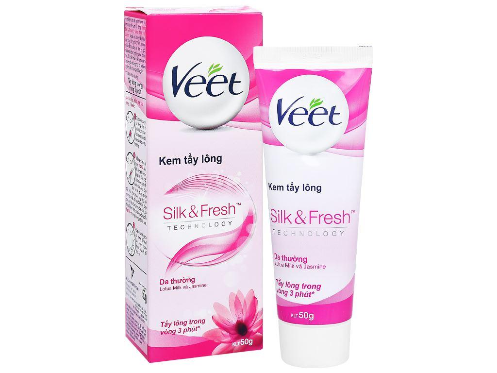 Kem tẩy lông Veet Silk & Fresh cho da thường 50g 2