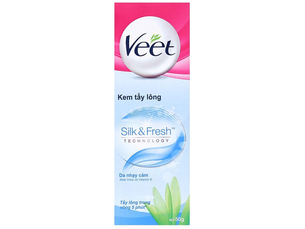 Kem tẩy lông Veet Silk & Fresh cho da nhạy cảm 50g 2