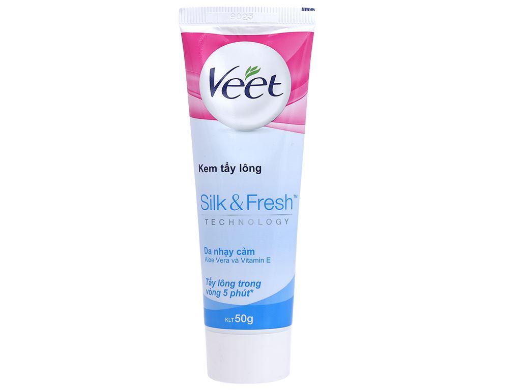 Kem tẩy lông Veet Silk & Fresh cho da nhạy cảm 50g 5