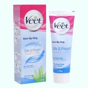 Kem tẩy lông Veet Silk & Fresh cho da nhạy cảm 50g