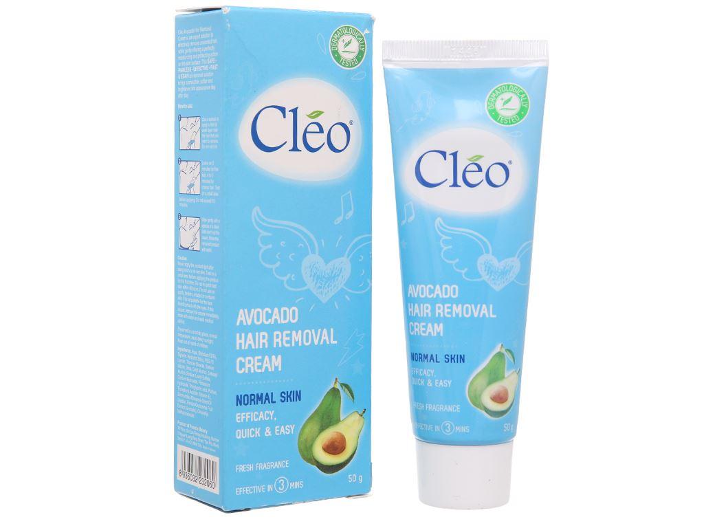 Kem tẩy lông Cléo Avocado Hair Removal Cream cho da thường 50g 1