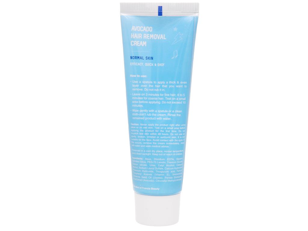 Kem tẩy lông Cléo Avocado Hair Removal Cream cho da thường 50g 10