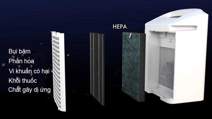 Lọc được 99.97% bụi và bụi mịn pm 2.5 - Máy lọc không khí Sharp DW-E16FA-W