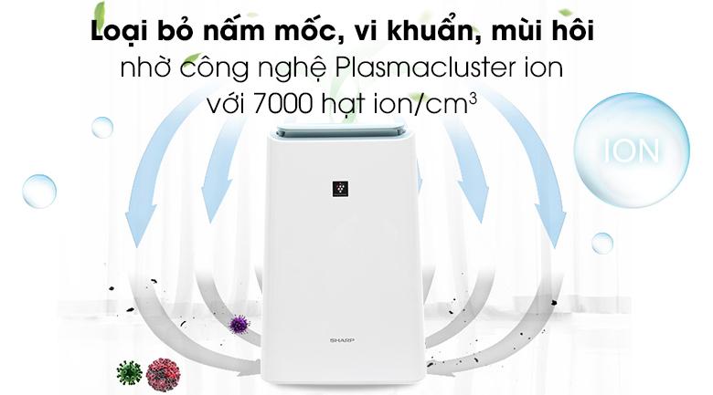 Plasmacluster ion - Máy lọc không khí Sharp DW-E16FA-W