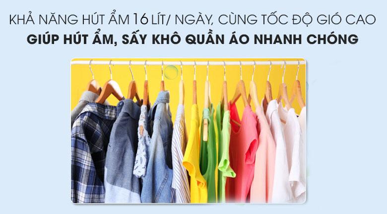 Hút ẩm hong khô quần áo hiệu quả