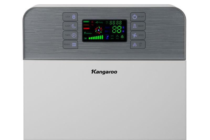Bảng điều khiển cảm ứng có màn hình hiển thị sắc nét - Máy lọc không khí Kangaroo KG30AP1