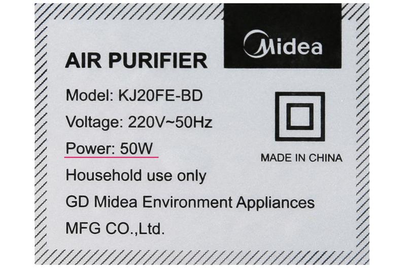 Làm mát tốt - Máy lọc không khí Midea KJ20FE-BD