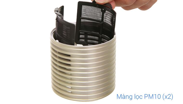 Bộ lọc bụi mịn PM 10 - Máy lọc không khí ô tô Sharp IG-GC2E Vàng champagne