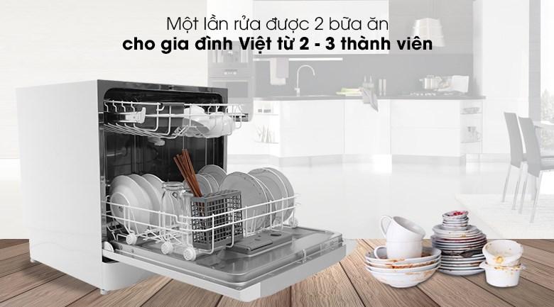Máy rửa bát Electrolux ESF6010BW 1480W - Rửa được 2 bữa ăn Việt