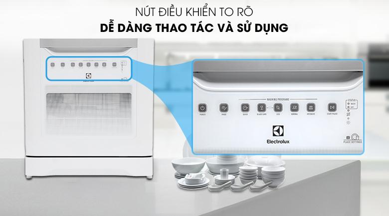 Máy rửa bát Electrolux ESF6010BW 1480W - Bảng điều khiển