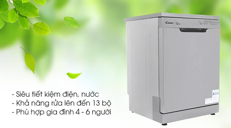 Máy rửa chén Candy CDP 1LS39X/T 2150W - Tiết kiệm điện