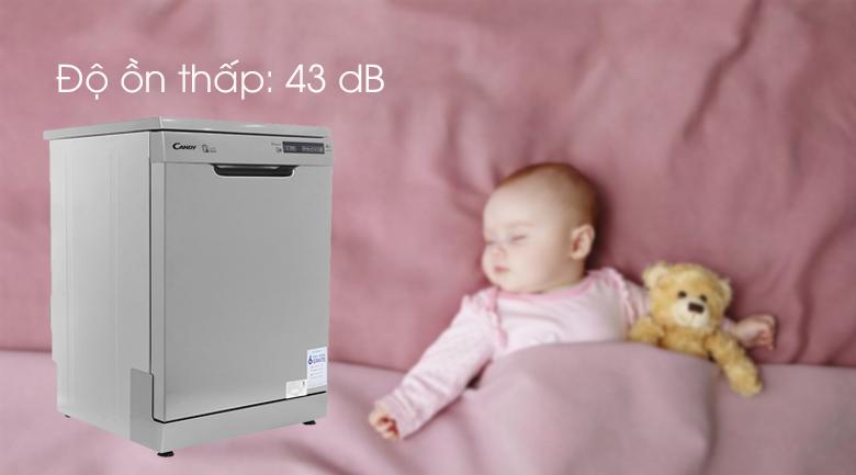 Máy rửa chén Candy CDP 2DS62X/T 2150W - Độ ồn thấp