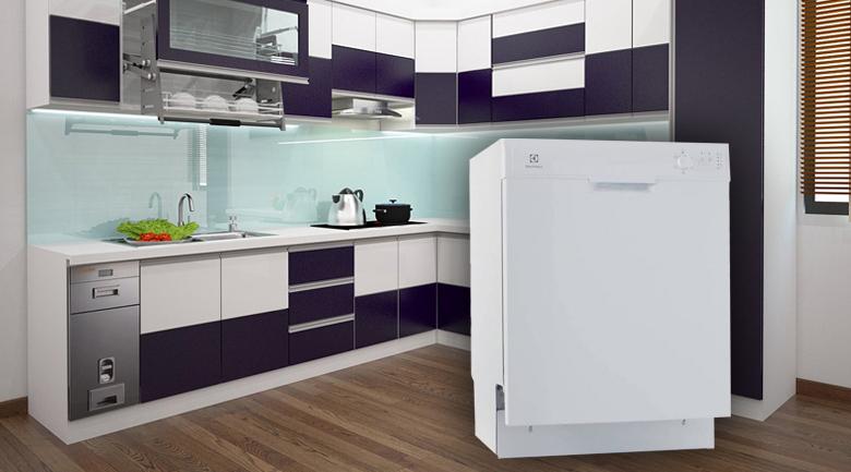 Thiết kế tinh tế, sang trọng làm nổi bật không gian được bố trí - Máy rửa bát Electrolux ESF5206LOW 1950W