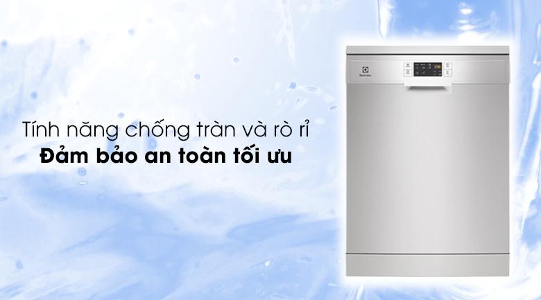Chống tràn và rò rỉ thông minh, tính năng đảm bảo an toàn tối ưu - Máy rửa bát Electrolux ESF5512LOX 1950W