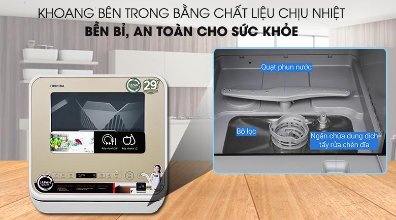 Rửa sạch khuẩn - Máy rửa chén Toshiba DWS-22AVN N 730W