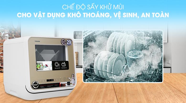 Sấy khử mùi, diệt khuẩn - Máy rửa chén Toshiba DWS-22AVN N 730W