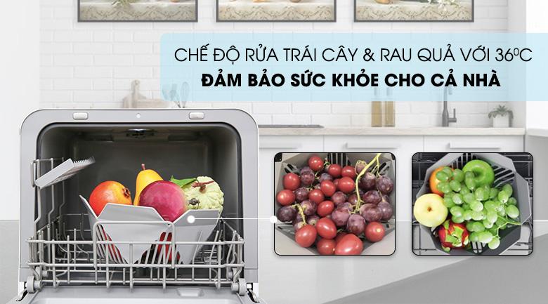 Rửa sạch trái cây - Máy rửa chén Toshiba DWS-22AVN N 730W