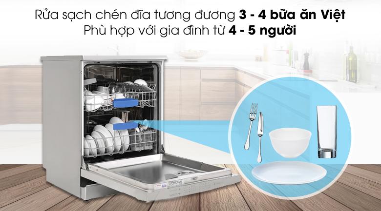 Máy rửa chén độc lập Bosch SMS63L08EA - Rửa được chén đĩa 3 - 4 bữa ăn Việt