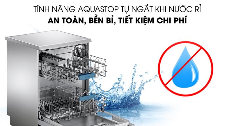 Tính năng Aquastop - Máy rửa chén Bosch SMS63L08EA 2400W