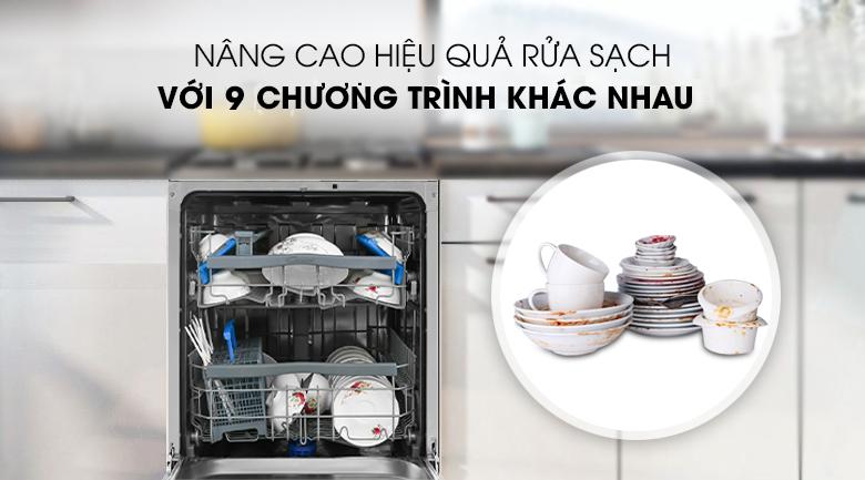 9 chương trình khác nhau - Máy rửa chén Candy CDPN 4D620PW