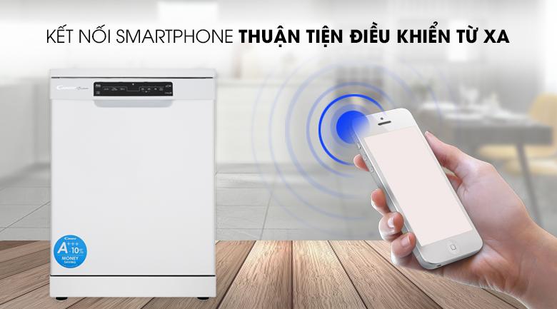 Kết nối điện thoại - Máy rửa chén dạng thùng Candy CDPN 4D620PW 2150W