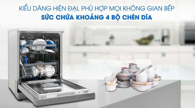 Kiểu dáng hiện đại, rửa khoảng 3 - 4 bộ chén đĩa - Máy rửa chén Candy CDPN 4D620PX 2150W