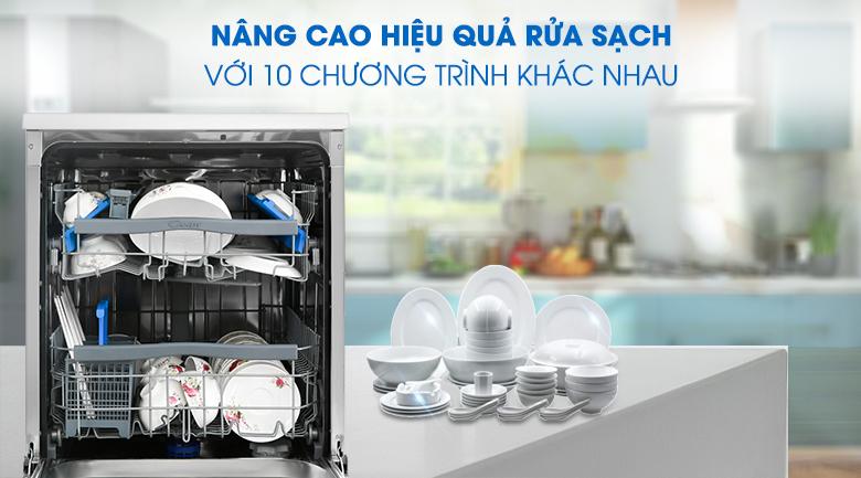 10 chương trình rửa - Máy rửa chén Candy CDPN 4D620PX 2150W