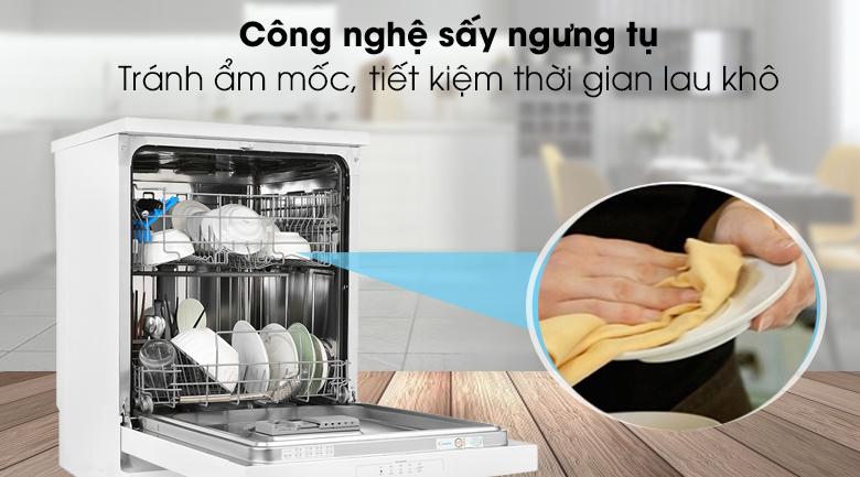 Máy rửa chén Candy CDPN 1L390PW 2150W - Công nghệ sấy ngưng tụ, giúp tiết kiệm thời gian lau khô chén dĩa
