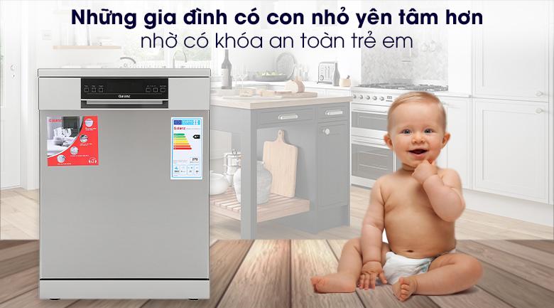 Máy rửa chén Galanz W60B1A401M-AE5(SS) 1850W - Khóa an toàn trẻ em