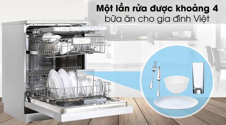 Máy rửa chén Galanz W60B1A401M-AE5(SS) 1850W - Rửa sạch 4 bữa ăn cho gia đình Việt