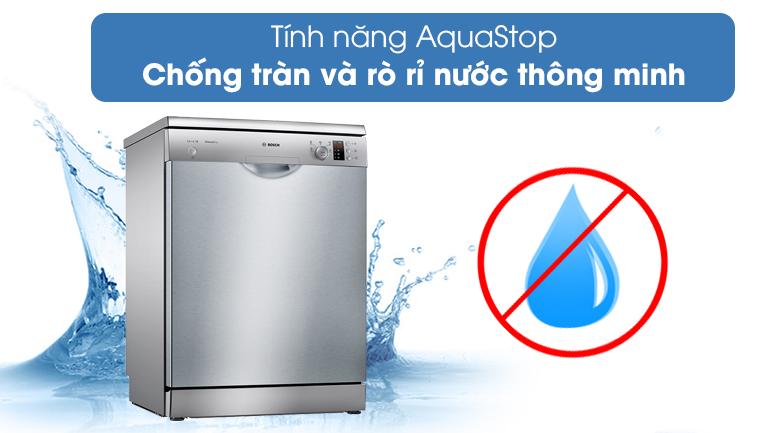 Máy rửa chén Bosch SMS25DI05E với tính năng chống tràng AquaStop