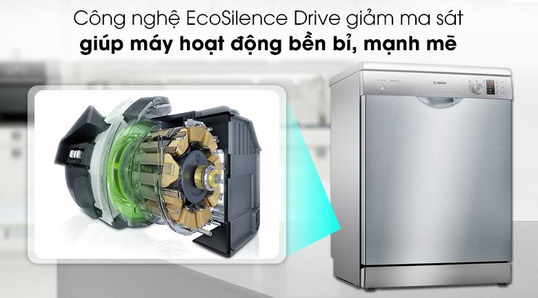 Máy rửa chén Bosch SMS25DI05E trang bị động cơ EcoSilence Drive hoạt động mạnh mẽ