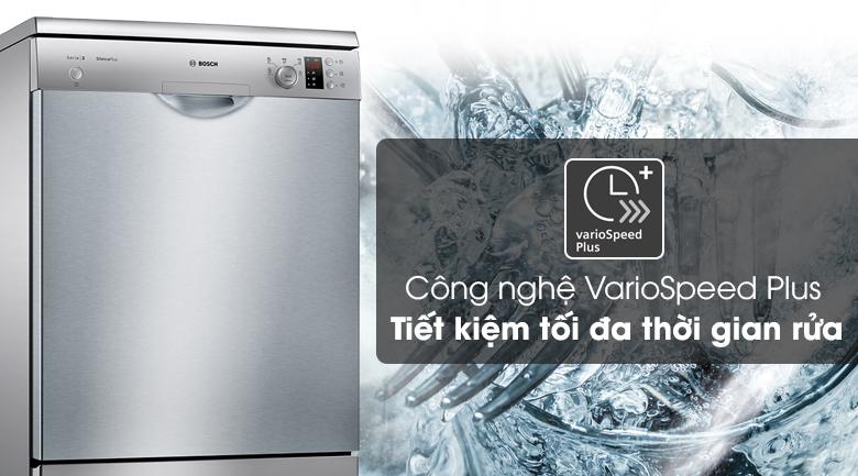 Máy rửa chén Bosch SMS25DI05E với công nghệ VarioSpeed Plus - Tiết kiệm thời gian rửa chén đĩa
