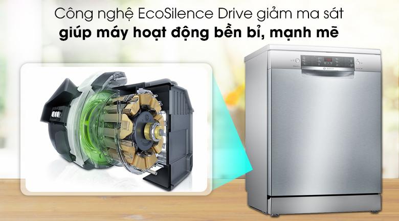 Máy rửa chén Bosch SMS46MI01G 2400W trang bị động cơ EcoSilence Drive vận hành mạnh mẽ
