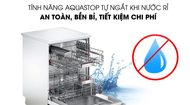 Máy rửa chén Bosch HMH.SMS68PW01E 2400W tiết kiệm nước hơn với AquaStop