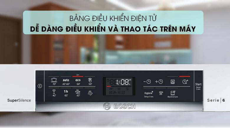 Máy rửa chén Bosch HMH.SMS68PW01E 2400W dễ dàng thao tác với bảng điện tử