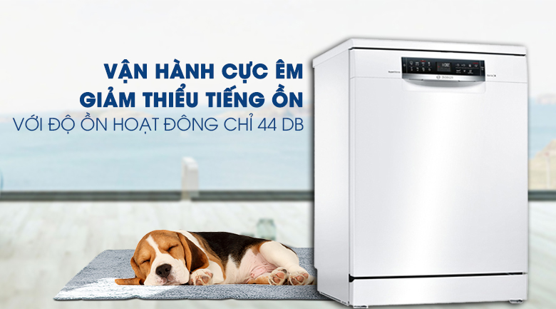 Máy rửa chén Bosch HMH.SMS68PW01E 2400W vận hành êm ái