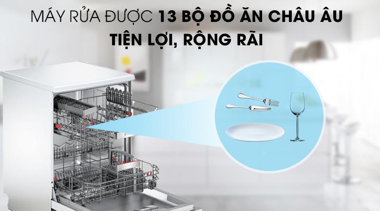 Máy rửa chén Bosch HMH.SMS68PW01E 2400W rửa được 13 bộ chén đĩa trong 1 lần