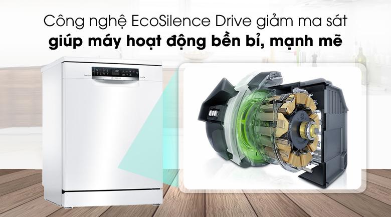 Máy rửa chén Bosch HMH.SMS68PW01E 2400W có động cơ mạnh mẽ