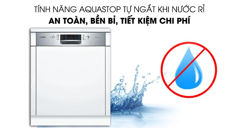 Máy rửa chén Bosch HMH.SMI46MS03E 2400W tiết kiệm nước tối ưu