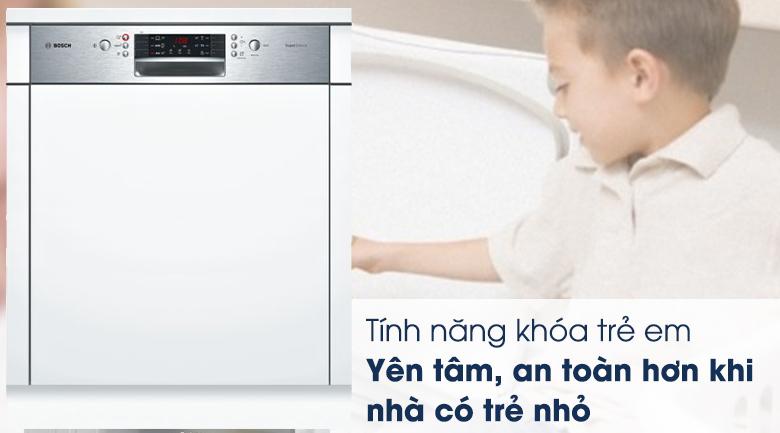 Máy rửa chén Bosch HMH.SMI46MS03E 2400W khóa trẻ em an toàn