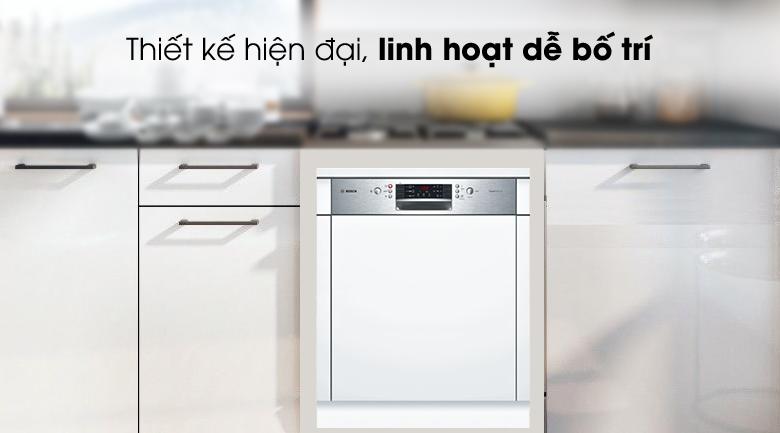 Máy rửa chén Bosch HMH.SMI46MS03E 2400W có thiết kế tinh tế