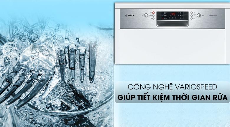 Máy rửa chén Bosch HMH.SMI46MS03E 2400W có công nghệ VarioSpeed