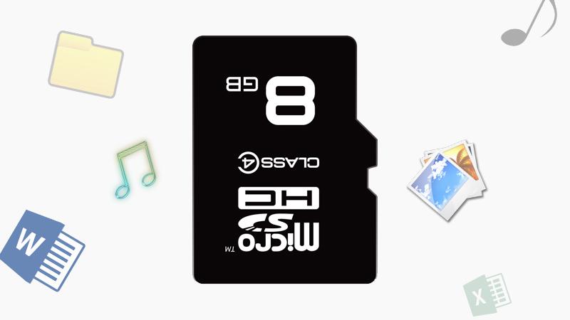 Thẻ nhớ MicroSD 8Gb Class 4 - Dung lượng 8 GB giúp tăng bộ nhớ máy