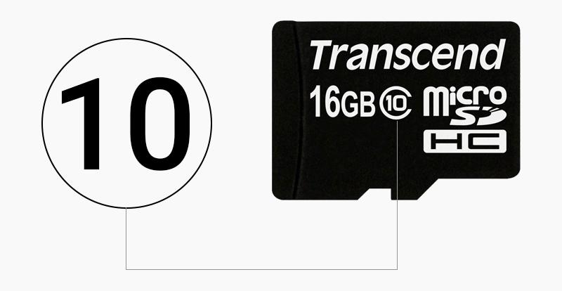 Thẻ nhớ 16GB MicroSD class 10 - Class 10 biểu thị cho tốc độ của thẻ nhớ