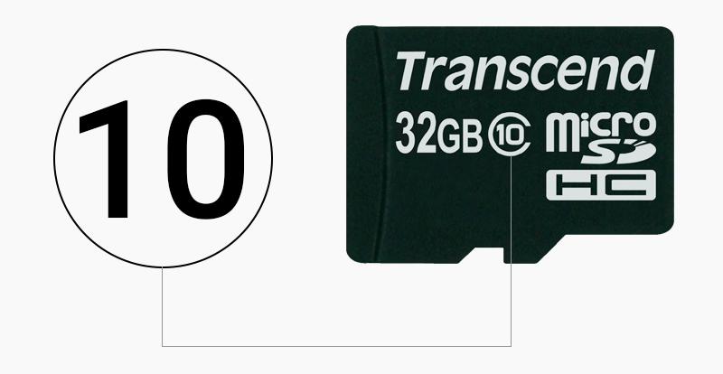 Thẻ nhớ MicroSD 32 GB class 10 - Class 10 biểu thị cho tốc độ của thẻ nhớ