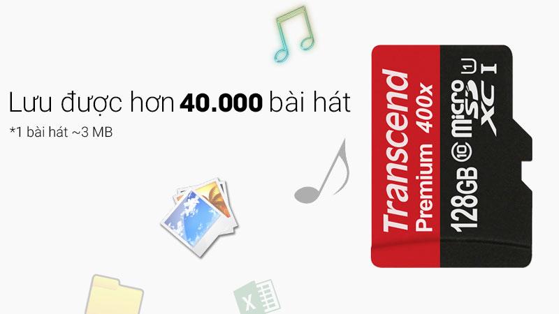 Thẻ nhớ MicroSD 128 GB Class 10 lữu trữ hơn 40.000 bài hát